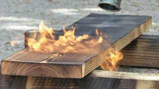 Burning Treated Wood