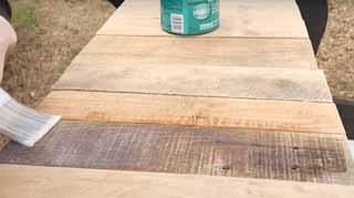 hardening wood