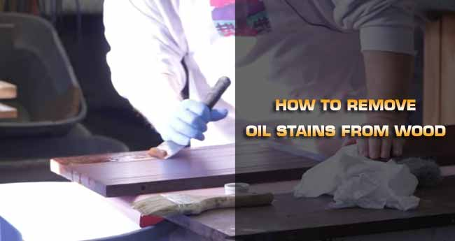 remove oil stain from wood
