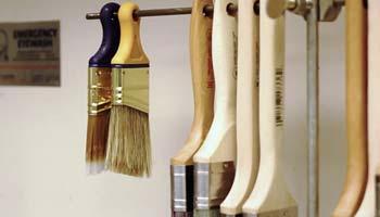 cleaning polyurethane brush