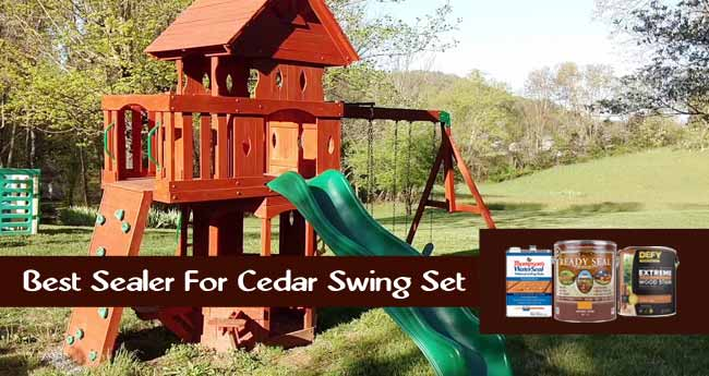 best stain for cedar swing set