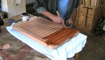 A Wooden Doormat