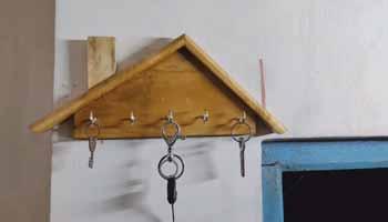 A Wooden Key Holder
