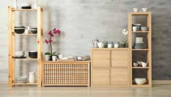 A Wooden Kitchen Rack